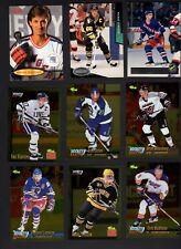 40 Hockey cards 1990s incl. 96-97 Fleer Gretzky 93-94 Parkhurst Lemieux