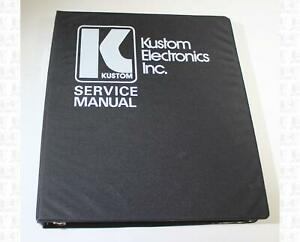 Kustom Service Manual Volume 4, 1970s Amps Mixers, Speakers