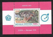 Indonesië Zonnebloem  Blok 32 postfris   motief dieren / tijgers