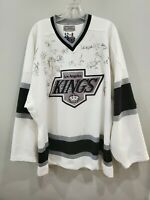 Team Autographed Starter Authentic NHL Los Angeles Kings Jersey Mens 52-R 2XL