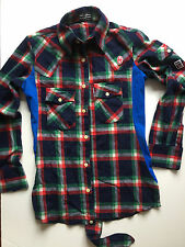 shirt camicia  Vintage CONTE OF FLORENCE  made in italy TG SMALL SLIM FIT