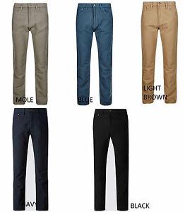 EX M&S Mens Moleskin Straight Leg Regular Fit Trousers Pants 10 shades Rrp£29.50