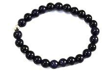 BLAUFLUSS Edelstein-Armband / SUN STAR BLUE Bracelet D410