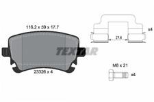 Textar Bremsbelagsatz HA Audi A4 8E A6 4F A8 4E VW Bus T5 - Art.Nr. 2332681