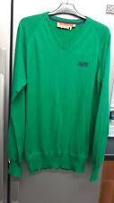 Superdry Men's V neck Knit Jumper Green Size M NWT