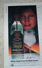 1983 vintage ad - Rumple Minze peppermint schnapps SEXY GIRL white magic ADVERT