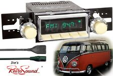 Retro Sound VW Bus/Transport/Ghia Hermosa-Iv Radio/BlueTooth/USB/3.5mm AUX-IN