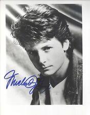 MICHAEL J FOX   8 X 10 SIGNED JSA SPENCE OLD BEST FULL SIGNATURE 1991