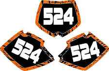 KTM Number Plate Graphics 98-02 125 200 250 380 400 350 EXC SX MXC sticker decal