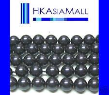 50pc Swarovski Crystal Beads Pearl 5810 6mm DARK PURPLE
