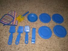 Vintage Fisher Price Fun With Food Plates And Other Kitchen Tools Lot