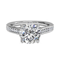 Round Cut 1.00 Ct Diamond Solitaire Ring 14K White Gold Engagement Rings 1861