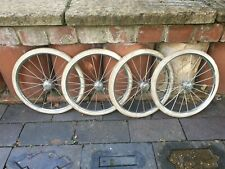More details for vintage caja pram wheels quick release 300-25  in good condition for age x 4