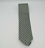 "Valerio Garati Men's Neck Tie Gray & Black Geometric Pattern Silk 58"" x 3.5"""