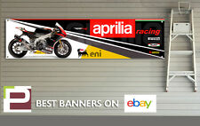 Aprilia racing RSV4 bannière pour atelier, garage, man cave, 2012, 1300mm x 320mm