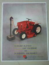 "VINTAGE! WHEEL HORSE TRACTOR SALES BROCHURE, ""What kind of horse is Wheel Horse"""