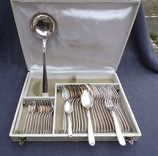 ménagère 37 couverts en métal argenté modèle origine orfèvre christofle en écrin