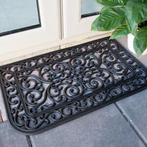 Rubber Iron Black Mat | Heavy Duty Non Slip Indoor & Outdoor Mats | New Doormats