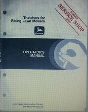 John Deere Thatcher Attachment Riding Lawn Tractor Mower Operators Manual 26pg