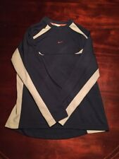 Nike Navy And Gray Large Atheistic Long Sleeve Shirt. Tl8