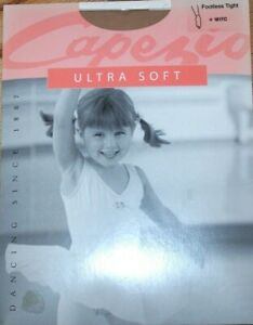 Capezio Footless 1817C Ultra Soft Tights Stockings Knit Waistband New Girl Child