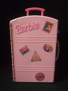 Vintage Barbie Travelin' House Take Along Travel Luggage Suit Case Mattel 1990's