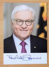 Autogrammkarte: Bundespräsident Herrn Frank-Walter Steinmeier