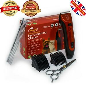 Dog Clipper Pet Grooming Shaver Kit Cordless Electric Trimmer Set Animal Hair
