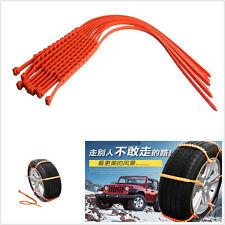 10 pcs rouge tpu material voiture auto roue pneu antidérapage chaînes slip conduite de sécurité