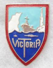 Insigne MARINE 1939/40 Patrouilleur P13 VICTORIA Augis émail ORIGINAL WWII BADGE