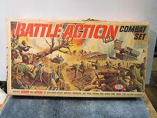 VINTAGE 1965 IDEAL TOYS BATTLE ACTION COMBAT SET 4884-3    BOX ONLY!    MILITARY