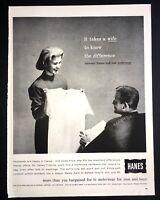 Life Magazine Ad HANES Underwear 1960 Ad