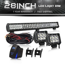 28'' LED Spot Flood Combo Fog Driving Work Light Bar cube lights Straight t15y