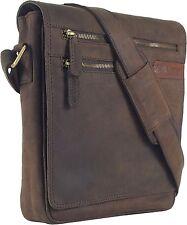 UNICORN LONDON Echt Leder Braun iPad, Kindle, Tablets Messenger Tasche Bag #4G