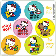 Hello Kitty Stickers - 48 Dots - 8 Sheets - Birthday Favours - Dot - Kitty Party