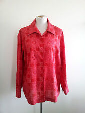 Liz Claiborne size 1X crimson cotton long sleeve shirt