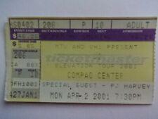 4/2/01 U2 Elevation Tour Concert Ticket (Houston, Tx)