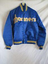 Seattle Mariners vintage 80s Starter trident logo satin baseball jacket Small