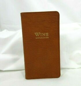 Fortnum & Mason Wine Reference  Book Leather Softcover British Tan