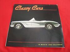 "1993 "" CLASSY CARS "" 16 MONTH  CALENDAR, Lamborgini-Cobra-61 vette-Ferarri-etc'"