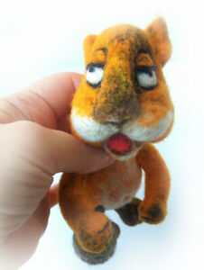 SQUIRREL toy handmade Needle felt  author's collectible animals felted wool