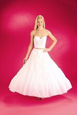 White X-Full Plus Size Petticoat Drawstring Bridal Wedding Slip Skirt (113DSXFXL