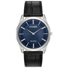 Citizen Eco-Drive Men's Stiletto Blue Pattern Dial 38mm Watch AR3070-04L
