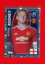 CHAMPIONS LEAGUE 2015-16 Topps -Figurine-stickers n. 114 -ROONEY-MANCHESTER-New