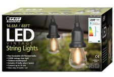 Feit 48ft (14.6m) Heavy Duty LED Waterproof String Lights Set + 26 Bulbs