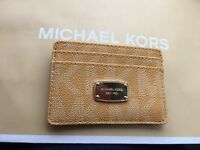 MICHAEL KORS NWT MK Authentic Sun PVC Credit Card Case Wallet