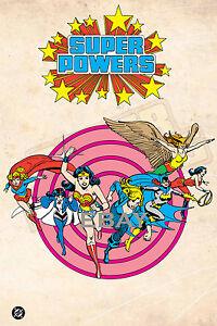 1988 Super Powers DC FEMALE HEROES Model Art : Justice League Wonder Woman Girl
