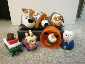 McDonald's The Secret Life of Pets Happy Meal Toys, Lot of 6 + Ty Mini Beanie