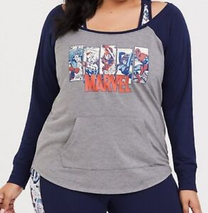 MARVEL TORRID ACTIVE - OFF SHOULDER SWEATSHIRT