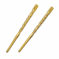 New Twisted Wavy Chopsticks for Hair Black Brown Gold Silver Length 17cm